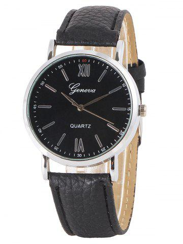 Online Faux Leather Roman Numeral Watch
