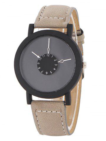 Outfit Faux Leather Band Analog Watch KHAKI