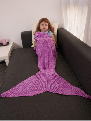 Online Keep Warm Crochet Knitting Mermaid Tail Style Blanket For Kids - ROSE MADDER  Mobile
