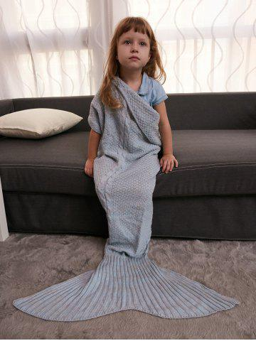 Latest Keep Warm Crochet Knitting Mermaid Tail Style Blanket For Kids