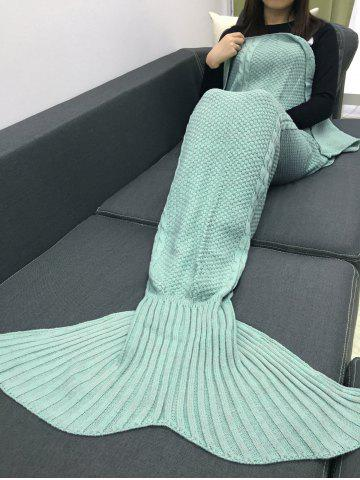 Keep Warm Crochet Knitting Mermaid Tail Style Blanket - MINT GREEN