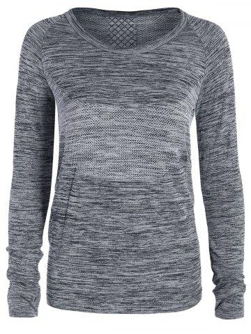 Best Heathered Thumbhole Long Sleeve Gym Top