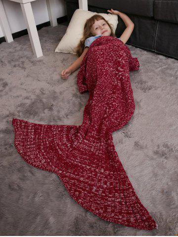 New Keep Warm Crochet Knitting Mermaid Tail Style Blanket For Kids