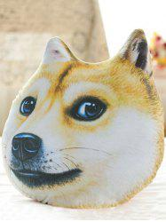 Creative 3D Akita Home Decoration Dog Shape Design Pillow - YELLOW
