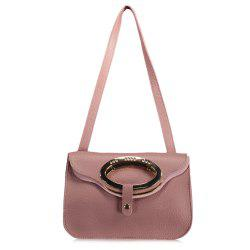 Metallic Flap Shoulder Bag