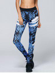 Abstract Print Yoga Pants