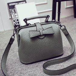 Bow Faux Leather Crossbody Bag
