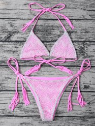Tie Side Tassel String Bikini