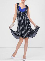 Polka Dot Sweetheart Neck Dress