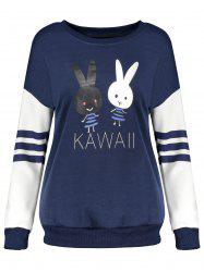 Cartoon Rabbit Pattern Sweatshirt