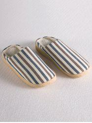 Flat Heel Stripe House Slippers -