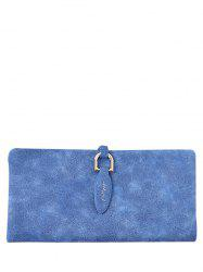 Faux Leather Bi Fold Clutch Wallet