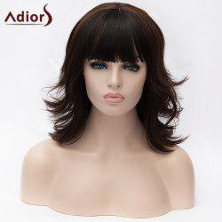 Adiors Medium Full Bang Layered Colormix Tail Upwards Synthetic Wig