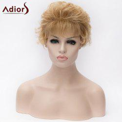 Adiors Short Neat Bang Layered Curly Synthetic Wig