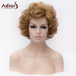 Adiors Short Side Bang Shaggy Curly Bob Synthetic Wig