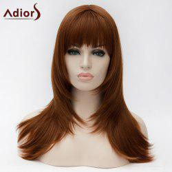 Adiors Long Silky Layered Straight Full Bang Synthetic Wig