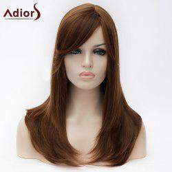 Adiors Long Side Bang Natural Straight Synthetic Wig