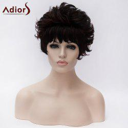 Adiors Short Layered Fluffy Curly Side Bang Synthetic Wig