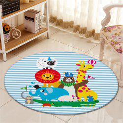 60CM Diameter Cartoon Animal Round Carpet For Living Room