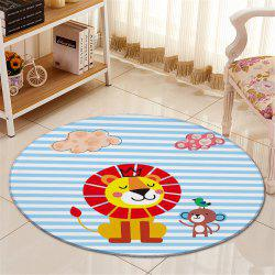 Cartoon Pattern Antislip Round Fleece Floor Carpet