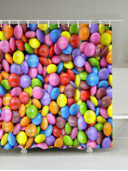 Candy Printed Shower Curtain - COLORFUL