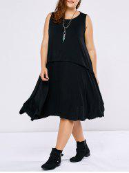 Plus Size Sleeveless Swing Dress