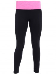 Tight Fit Sports Running Leggings - BLACK AND ROSE RED