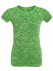 Short Sleeve Sports Running Gym T-Shirt - NEON GREEN