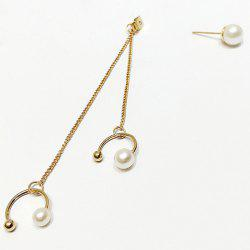 1Pcs Faux Pearl Drop and Stud Earring Jacket