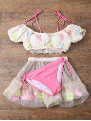 Tulle Three Piece Bikini Set