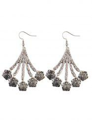 Vintage Geometric Floral Drop Earrings