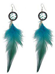 Feather Bohemian Drop Earrings -