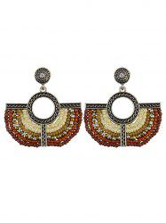 Geometric Beads Vintage Drop Earrings
