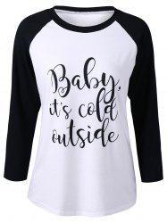 Raglan Sleeves Printed T-Shirt