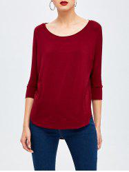 Boat Neck High Low Basic Tee