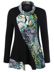 Animal Print Tunic T-Shirt