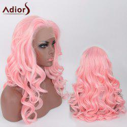 Adiors Long Body Wave Side Parting Synthetic Lace Front Wig
