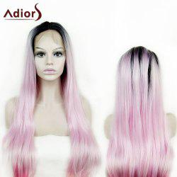 Adiors Long Colormix Natural Straight Synthetic Lace Front Wig