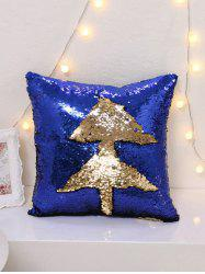 Magical Color Glitter Sequins DIY Throw Pillow Case - DEEP BLUE