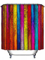 Colormix Stripe Waterproof Bath Shower Curtain