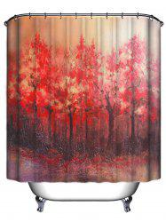 Tree Pattern Waterproof Bath Shower Curtain