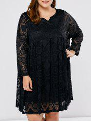 Long Sleeve Lace Plus Size Dress