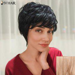 Siv Hair Layered Short Silky Curly Side Bang Human Hair Wig