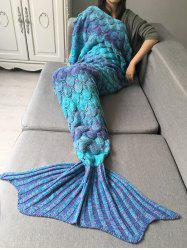 Crochet Fish Scale Design Ombre Wrap Mermaid Blanket