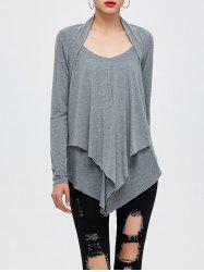 Layered Asymmetrical T-Shirt