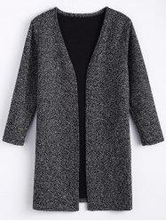 Plus Size Coat front ouvert Tweed -