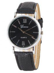 Faux Leather Roman Numeral Watch -