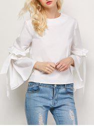 Flounced Oversized Flare Sleeve Blouse