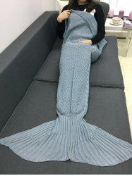 Keep Warm Crochet Knitting Mermaid Tail Style Blanket