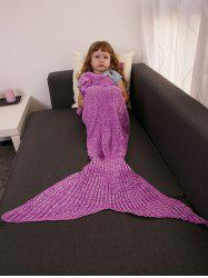 Garder au chaud Crochet Knitting Mermaid Tail style Blanket - Rose Rouge